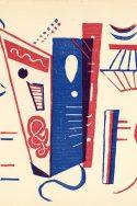 Kandinsky, Composition abstraite bleue et rouge