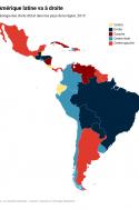 la couleur politique des chefs d'état dans l'Amérique latine en 2019