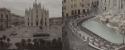 Italie monuments publics vides photo couleurs retouchées