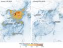 réduction pollution liée au coronavirus