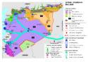 Zones de controle sur le térritoire en Syrie