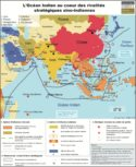 Carte Inde Chine relations diplomatiques diplomatie océan indien influence chinoise ASEAN AESE stratégie du collier de perles