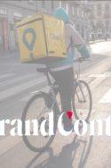 travailleur vélo Uber Eats livreur