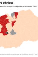 groupes ethniques en Macédoine du Nord par departement