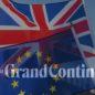Big Ben drapeau européen devant drapeau britannique