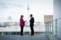 Photo Merkel Macron UE Union européenne La double impasse du débat français sur le plan de relance européen Finance économie choc du Covid-19 crise économique chômage couple franco-allemand politique intérieure