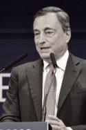 Photo N&B entretien Mario Draghi discours Rimini « L'Europe peut sortir plus forte de cette crise », la leçon de Mario Draghi Banquier central discours Comunione Liberazione CL réponse à la crise financière du Covid-19 UE Bruxelles Francfort Union européenne