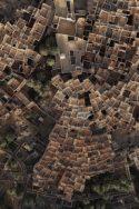 Vue aérienne de la vieille ville de Ghadames