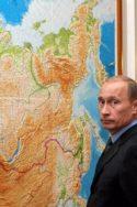 Photo Poutine devant carte de la grande Russie dans l'OTAN ? géopolitique histoire