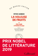 couverture livre Peter Handke La Voleuse de fruits culture littérature européenne d'Europe allemande fictions d'Europe à lire recueil prix Nobel littérature 2019 roman Gallimard